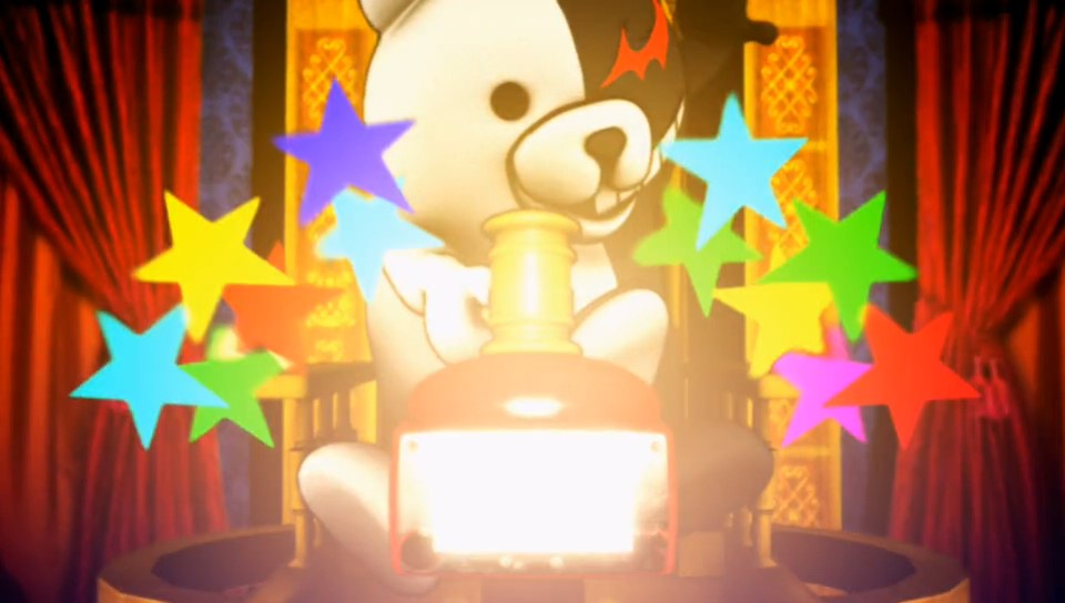 Meet Monokuma, the headmaster and mastermind of this little game of whodunnit