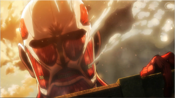 Oh hey Colossal Titan . . . looking over our 50 meter wall . . . EVERYBODY RUN!