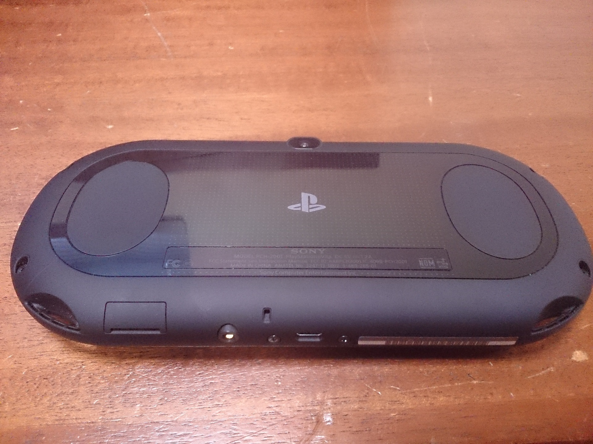 Notice the smaller rear pad and larger grips.