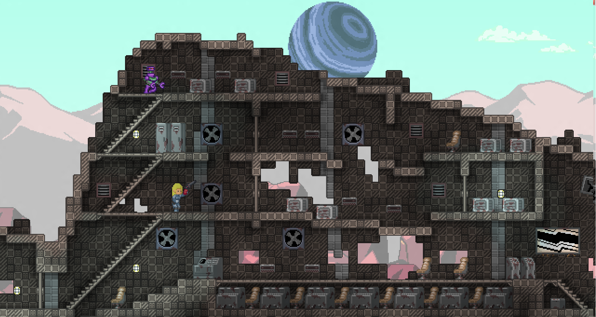 You can go almost anywhere and do almost anything in Starbound, except play a finished game.