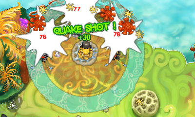 Each class can earn bonus pearls for combat combos. In this image, Sammo is using his AOE attack and hits multiple targets resulting in earning 30 more pearls.