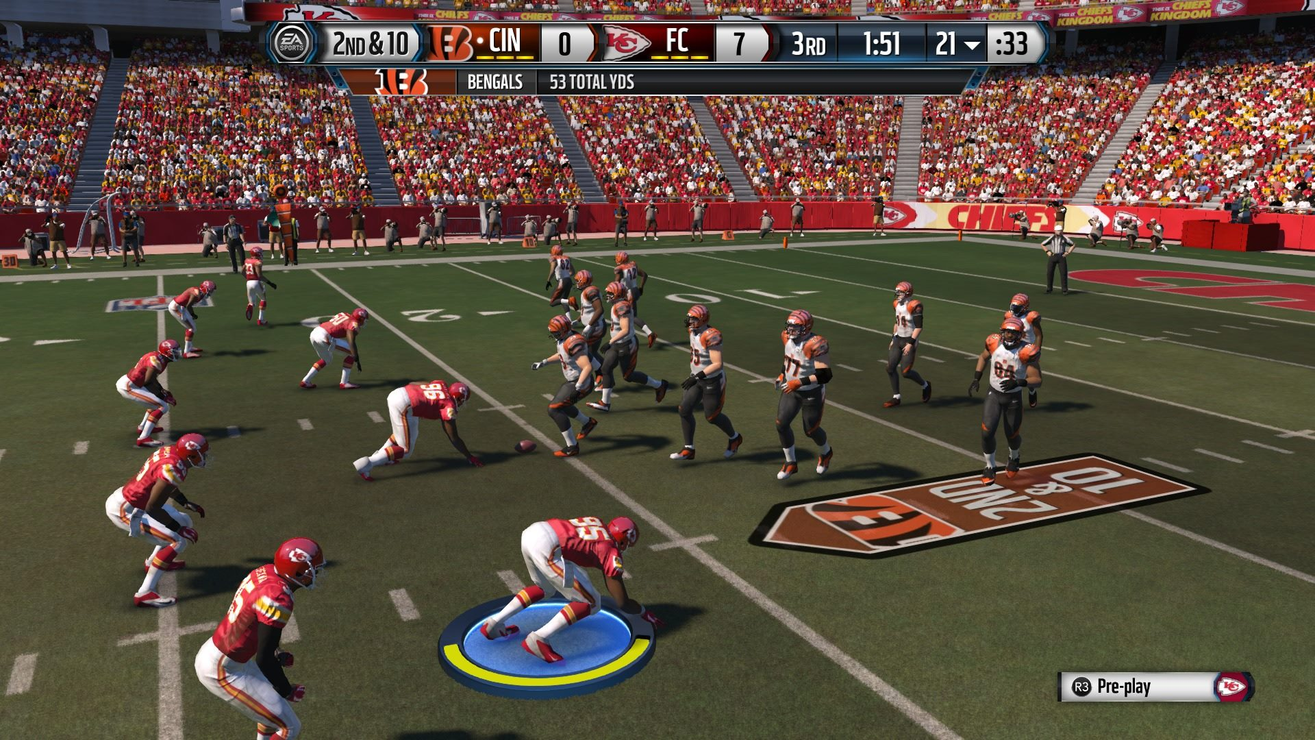 This is the new default defensive camera angle which is immersive, but not too practical.